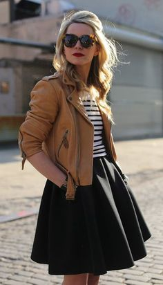 Styling inspiration for the Lisette moto jacket, Butterick B6169