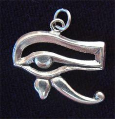 Egyptian Eye of HORUS Charm or PENDANT by CharmAndChain on Etsy, $22.95
