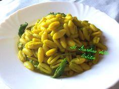 Gnocchetti con asparagi e zafferano