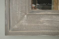 How to create the weathered wood look with paint using Annie Sloan chalk paint. In this video tutorial, I show how to take a big-box store, inexpensive mirror and transform it into a weathered wood inspired, expensive mirror for your home! Barn Wood Mirror, Wood Framed Mirror, Diy Mirror, Mirror Framing, Bathroom Mirrors, Bathrooms, Chalk Paint Mirror, Mirror Painting, Chalk Painting