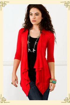 great color and more versatile than a red blazer because I would definitely wear this in summer!