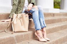 fashion-jackson-mansur-gavriel-bucket-bag-denim-ripped-skinny-jeans-nude-pumps-tortoise-sunglasses-utility-jacket