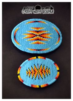 Native American bead-embroidered belt buckles by crystaltewa on Etsy