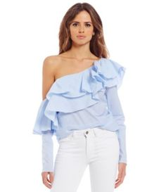 Shop for Gianni Bini Dorothee Ruffled One-Shoulder Poplin Blouse at Dillards.com. Visit Dillards.com to find clothing, accessories, shoes, cosmetics & more. The Style of Your Life.