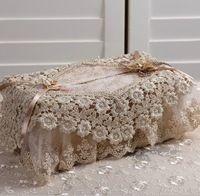 2014 Hot Lace tecido Tissue Box Cover Multicamadas Car Lace conjuntos de toalha frete Grátis decoração de mesa