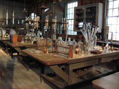 Thomas Edison's laboratory, where some of the most mysterious moments of the story take place.
