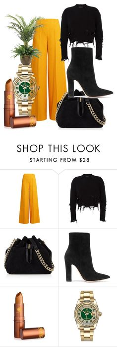"""""""Wired Differently"""" by mardenec ❤ liked on Polyvore featuring Emilia Wickstead, adidas Originals, Karen Millen, Gianvito Rossi, Lipstick Queen, Rolex and NDI"""