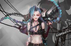 Jinx fan art | league of legends champion hero character lol | drawing painting | #leagueFanArt #jinxArt