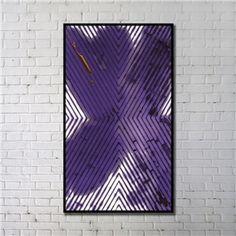 Leinwandbild Abstrakt Lila Dreiecl Digitaldruck mit Schwarze Rahme