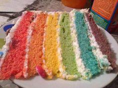 Confessions de 2 foodaholic: Rainbow Cake - Bataille Food 12 Layer Cakes, Confessions, Rainbow, Desserts, Food, Battle, Rain Bow, Tailgate Desserts, Rainbows