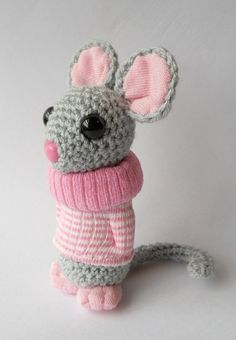 Mollie Amigurumi Mouse by Dawn Treacher / TreacherCreatures on Etsy