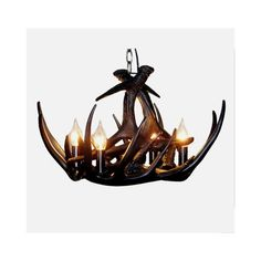 Rustic style cascade chandelier artistic antler chandelier antler 4 mozeypictures Image collections
