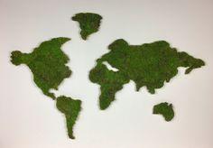 Wereldkaart mos
