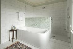 Blue & White Tile Bathroom - traditional - bathroom - san francisco - Jeff King & Company