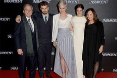 LONDON, ENGLAND - MARCH 11: (SUN NEWSPAPER OUT. MANDATORY CREDIT PHOTO BY DAVE J. HOGAN GETTY IMAGES REQUIRED) Douglas Wick, Veronica Roth, Theo James, Shailene Woodley and Lucy Fisher attend the World Premiere of 'Insurgent' at Odeon Leicester Square on March 11, 2015 in London, England. (Photo by Dave J Hogan/Getty Images)