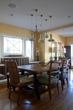 Arthur U0026 Kristinu0027s Sunny Vintage Loft U2014 House Tour. Kitchen Lighting  FixturesDining Room ...