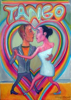 """""""Corazón de tango"""", acrílico sobre tela, 80 x 100 cm, 2012"""