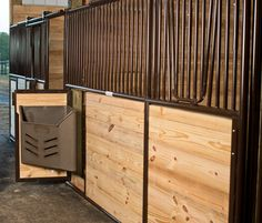"""Elite"" Horizontal Horse Stall Front with Lazy Susan Door - Tarter Farm & Ranch"