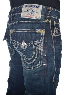 True Religion Mens Jeans Size 36 Straight with Flaps Mega T in Camshaft NWT  $376