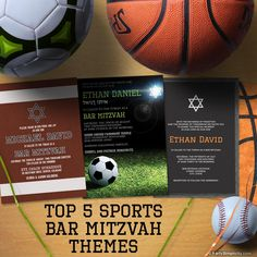 A post that discusses the top 5 sports Bar Mitzvah themes and also a few other less popular choices. Bar Mitzvah Decorations, Bar Mitzvah Themes, Bar Mitzvah Party, Bar Mitzvah Invitations, Party Invitations, Invitation Cards, Engagement Party Themes, Games For Fun, Fun Party Themes
