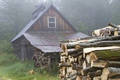Sugarhouse in the Fog #1, via Flickr.