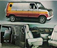 ford econoline 150 van, yep, we rocked this with an 8-track player in it.