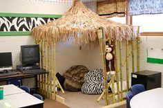 Jungle Classroom Tiki Hut Reading Area
