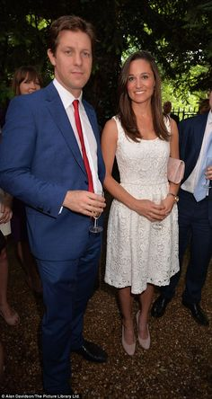 Pippa Middleton attended The Spectator magazine summer party, of which she is a contributor. Pictured here with Fraser Nelson, editor of The Spectator