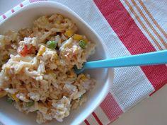 As Minhas Receitas: Salada de Arroz e Atum com Maionese