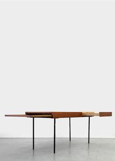 teak coffee table model for herman miller