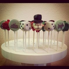 Monopoly cake pops - might be easier than a cake of the whole board
