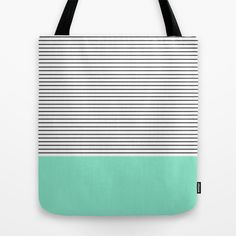 Buy Minimal Mint Stripes by Allyson Johnson as a high quality Tote Bag. Worldwide shipping available at Society6.com. Just one of millions of products…