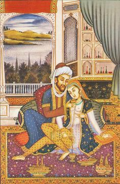 Badshah and His Consort (Reprint on Paper - Unframed)