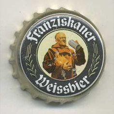 Franziskaner Beer Bottle Caps, Beer Caps, Beer Bottles, Bottle Top, Cap Ideas, Man Stuff, Favorite Things, Tops, Men Stuff