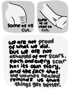 how to get rid of fresh self harm cuts