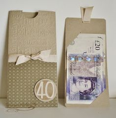 Why do I feel old all of a sudden? & my eldest son was 40 yesterday! LOL In my head, I& still a teenager! What happened! Birthday Money, 40th Birthday, Birthday Cards, Birthday Gifts, Happy Birthday, Scrapbooking 3d, Gift Card Presentation, Gift Cards Money, Money Envelopes