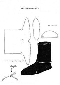 Mittelalter Stiefel, Schnittmuster