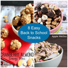 8 Easy Back to School Snacks- Love, Pasta and a Tool Belt | snacks | easy snack | back to school | school | recipes | food |