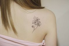 Subtle Orchid Tattoo by tattooist_ty