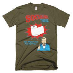 """Men's """"Socialism Toilet Paper"""" T-Shirt"""