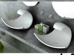 This is sink design by Joel Roberts as a Bathroom Innovations Awardfinalist. It has stylish and beautiful design inspired by oceanic form and motion. The basin Modern Sink, Modern Bathroom, Unique Bathroom Sinks, Bathroom Ideas, Bathroom Gadgets, Bathroom Stuff, Bathroom Closet, Bathroom Art, Beautiful Bathrooms