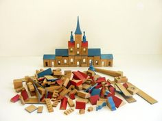 Mid Century Vintage Wooden Toy Town. Was on Etsy but shop no longer exists.