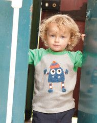 A fab cozy long-sleeve top by Frugi with fluffy monster motif and raglan sleeves. 100% organic cotton for comfort and durability.Was £17.95.  Now £12.95.