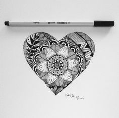 mandala heart | Tumblr
