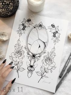 Thigh Sleeve Tattoo, Sleeve Tattoos, Broken Mirror Art, Mirror Tattoos, Broken Tattoo, Printable Tattoos, Kawaii Tattoo, Tattoos For Women Half Sleeve, Object Drawing