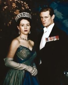 Matt Smith and Claire Foy as Prince Phillip and Elizabeth II in The Crown.