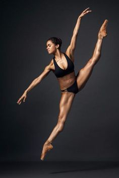Ballerina Misty Copeland's crazy-toned body still blows our minds.