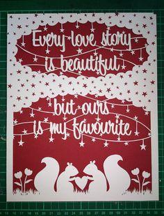 Beautiful Love Story Papercut