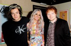 Harry Styles , Lou Teasdale  and Ed Sheeran