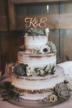 Letter Cake Toppers, Wooden Cake Toppers, Fall Wedding, Our Wedding, Dream Wedding, Winter Wedding Cakes, Perfect Wedding, Wedding Events, Country Wedding Cakes